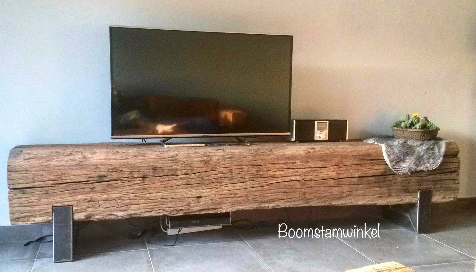 tv meubel blok hout robuust